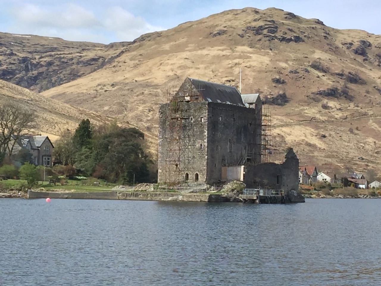 Carrick Castle seen from Loch Goil