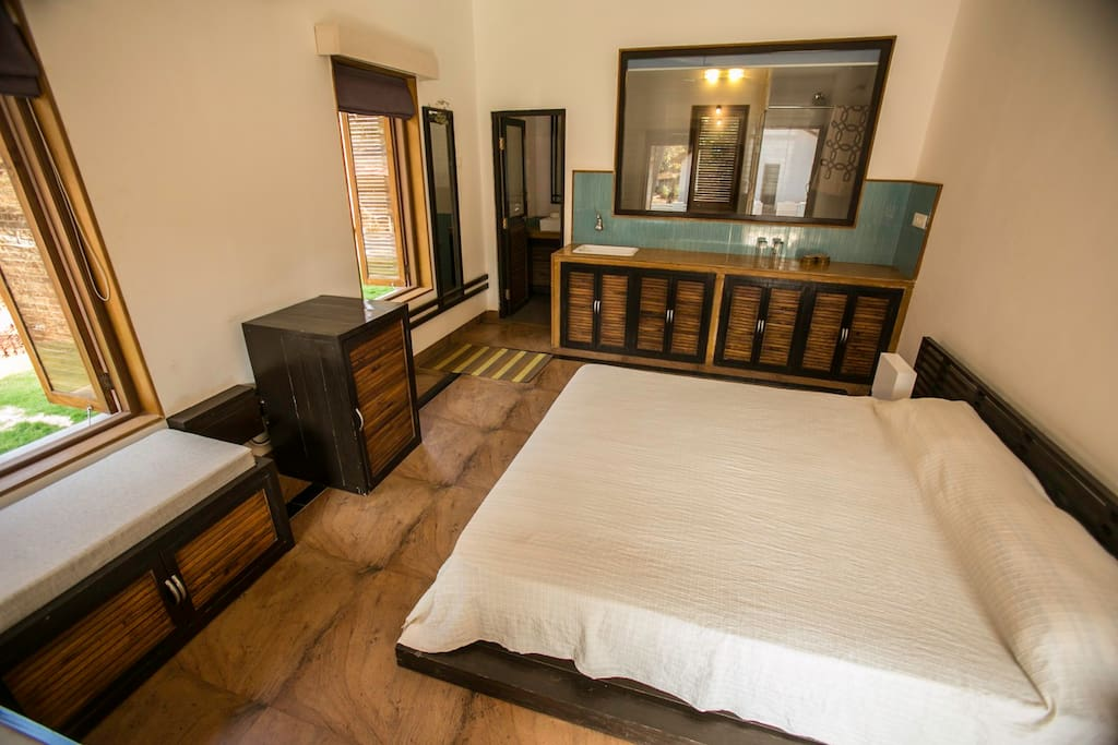 Talpona Riverview  Luxury Apartments, Talpona beach, Goa - Studio Bedroom
