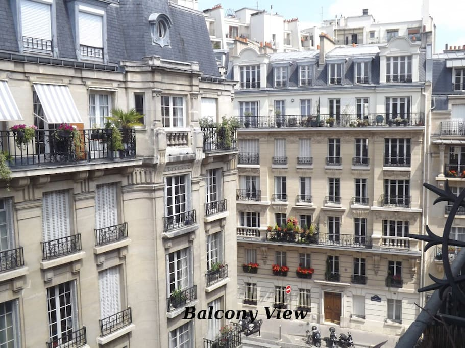 View from the dining room / small balcony -- classic Paris!
