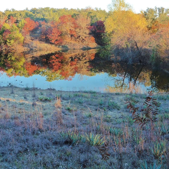 2 acre lake on property. Great for wildlife watching.