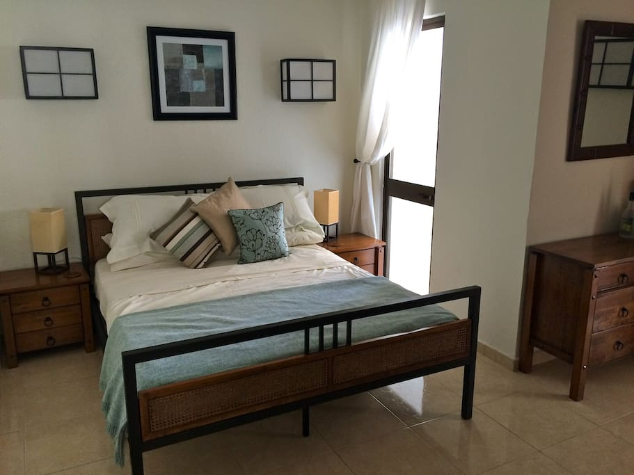 Large master bedroom with VERY comfortable bed!