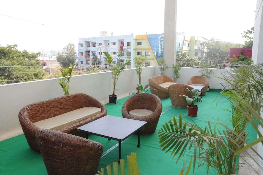 Open Terrace area providing fresh air and 360 view of the area.