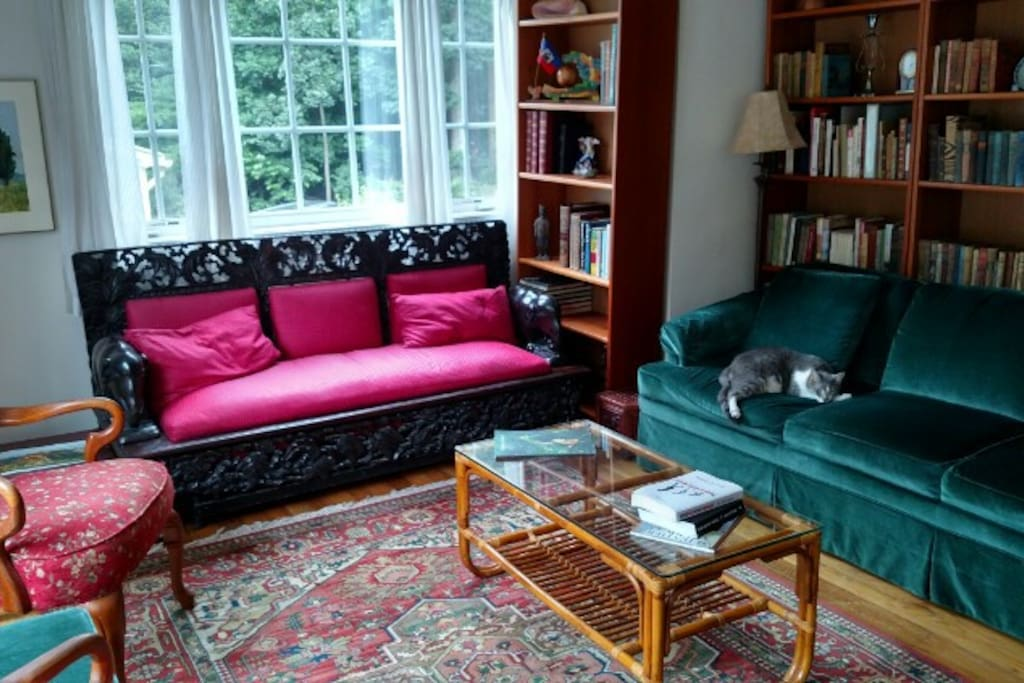 Help yourself to books in the living room