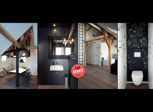 Cool unique design loft in central Prague! - Prague - Loft
