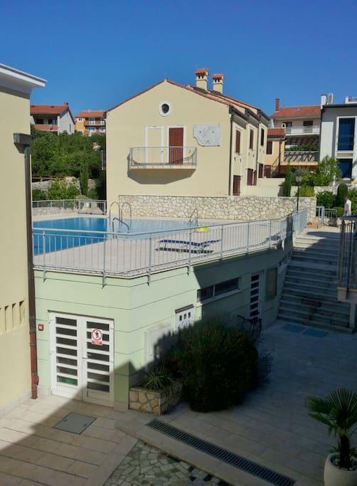 Vista della piscina, swimming pool