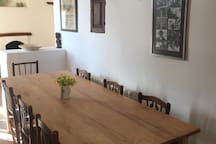 Our indoor dining area can comfortably seat 8