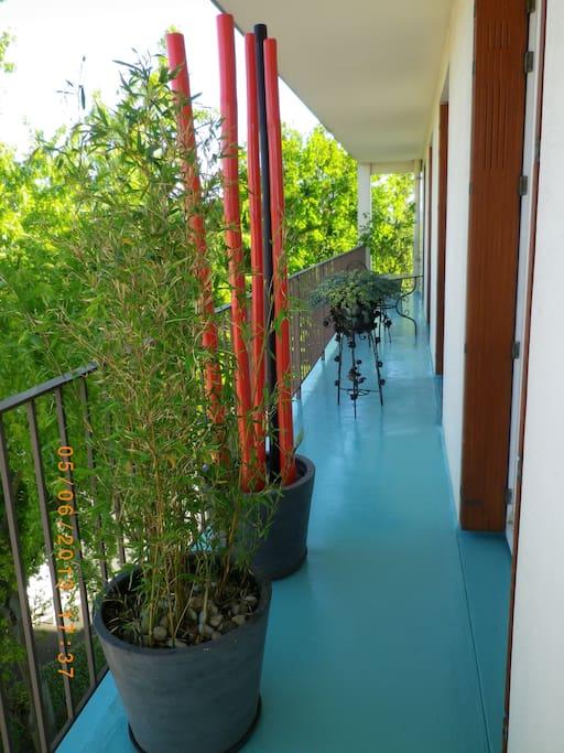 balcon sur chambres