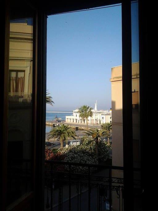 Veduta dal balcone