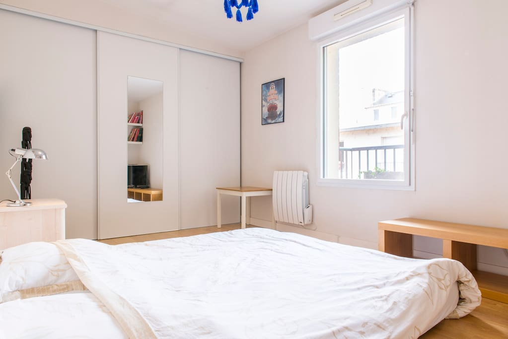 Your bedroom, with a window facing a pedestrian street, very very calm !