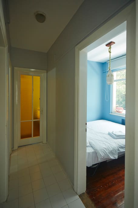 guest room and corridor