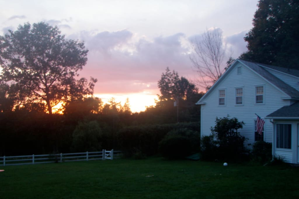 House at sunset