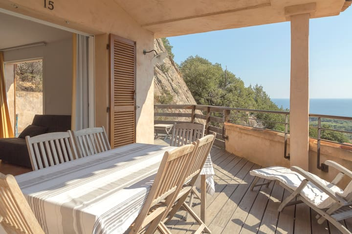 2 rooms Villa view Palombaggia & wide terrasse