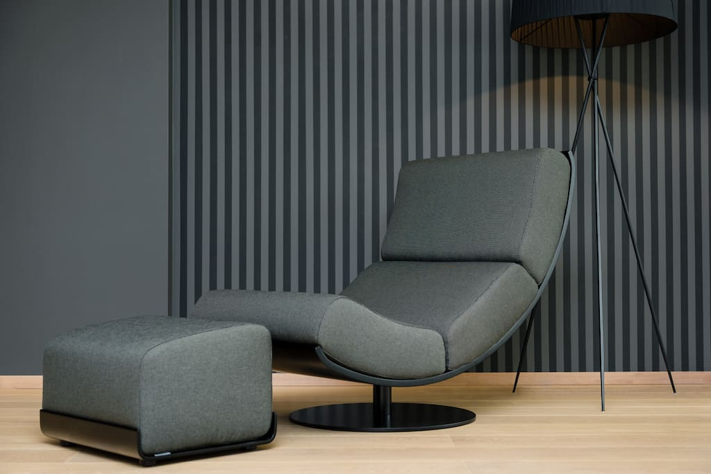 Lounge chair at living room
