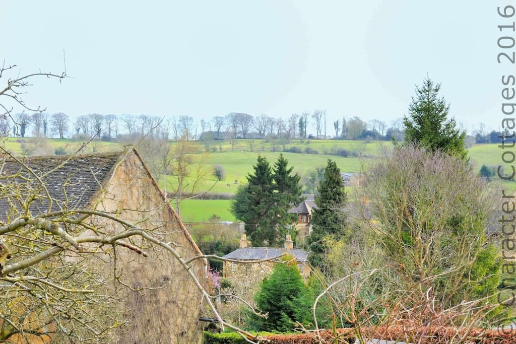 The view of the local hills from the top of the back garden