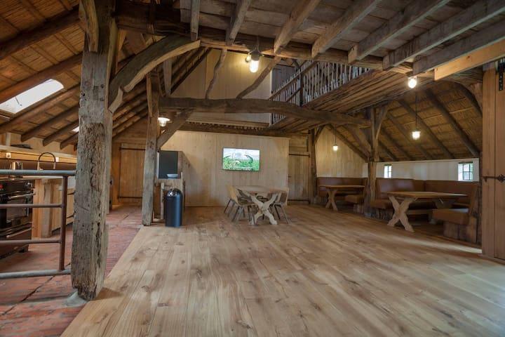 Vakantiehuis in schuur van een Saksische boerderij
