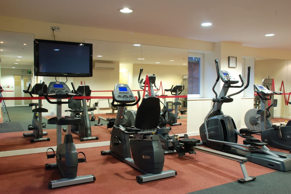 Guests can use the on-site gym during their stay