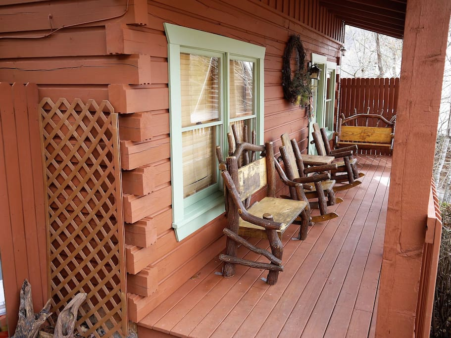 Step onto the porch to your Smoky Mountain Vacation