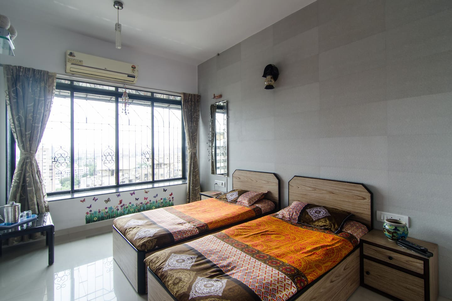 Clean and spacious room with all amenities with beautiful window seating to relax and enjoy the view.
