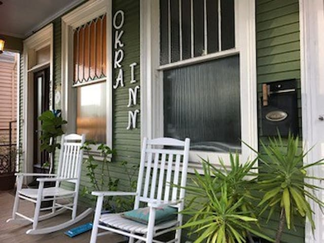 Half of The Okra Inn: On Canal Streetcar Line