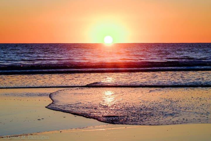 Topanga beach sunset!!  Photo by Denis Hannigan