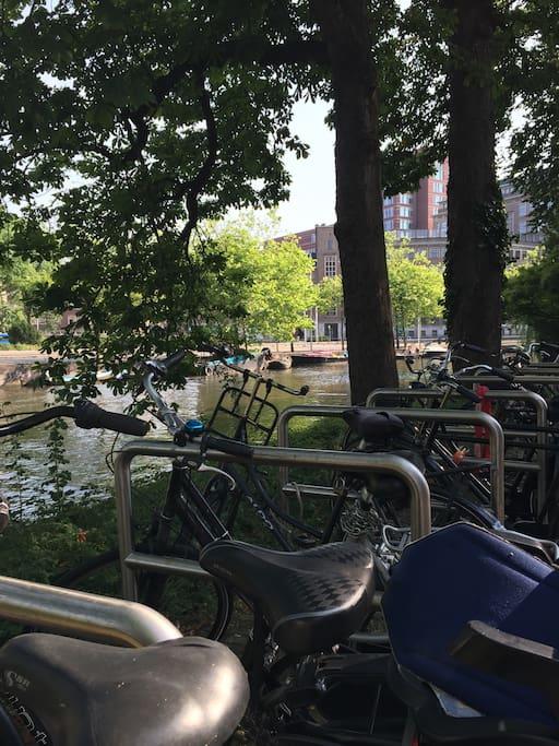 Bike rental just around the corner.