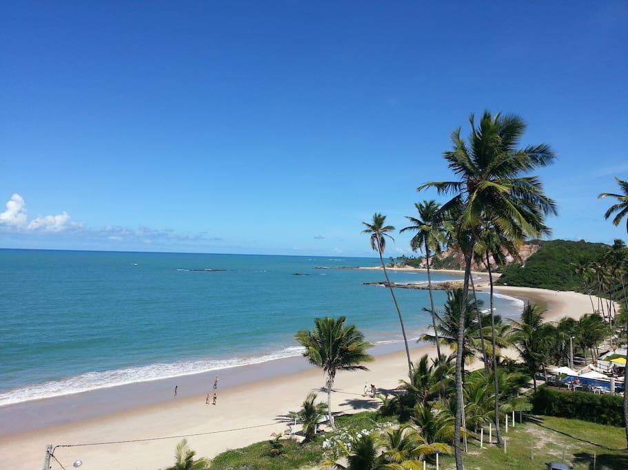 Praia Paradisíaca de Tabatinga - Vista do terraço