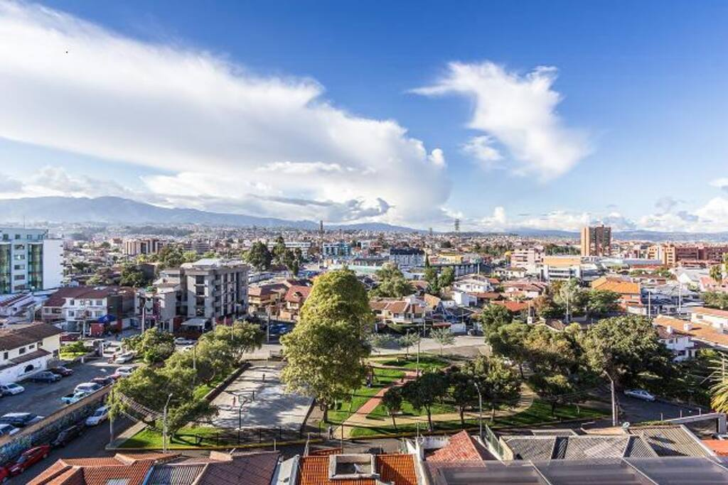 Vista de la Ciudad de Cuenca desde la terraza