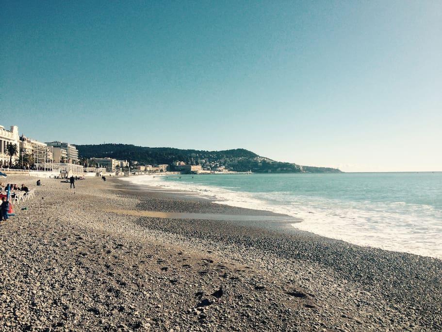 Promenade des Anglais 5 minutes à pieds (5 minutes by walk)