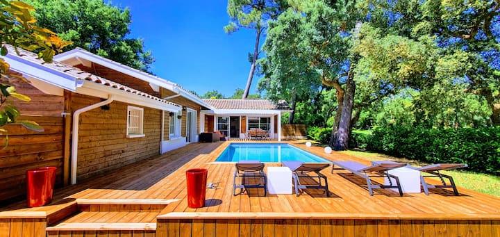 Villa avec piscine chauffée, Golf d'Hossegor****