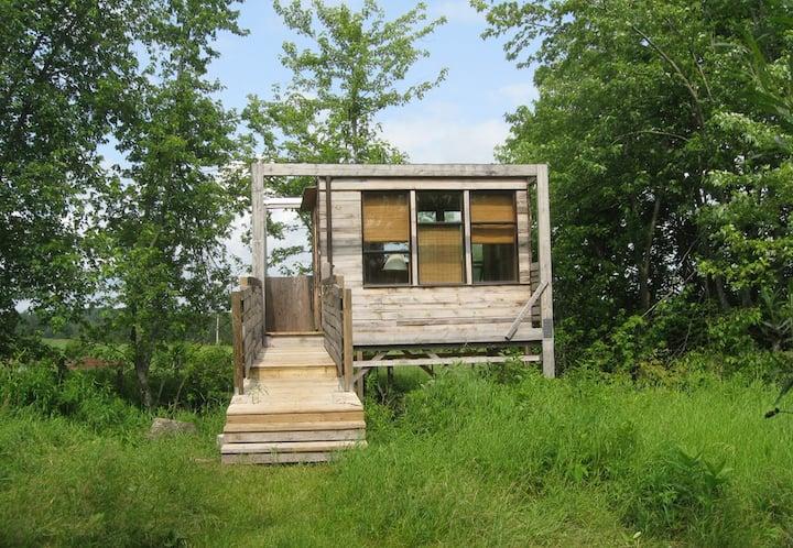 Treehouse Cabin on an Organic Farm