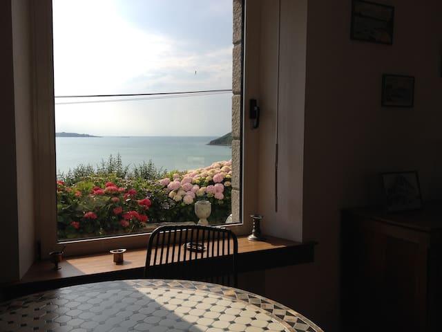 Maison pleine vue mer - Saint-Michel-en-Grève - Dům