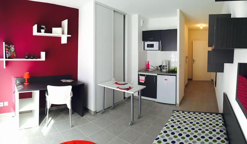 Studio lumineux tout équipé N°415 - Aix-en-Provence - Wohnung