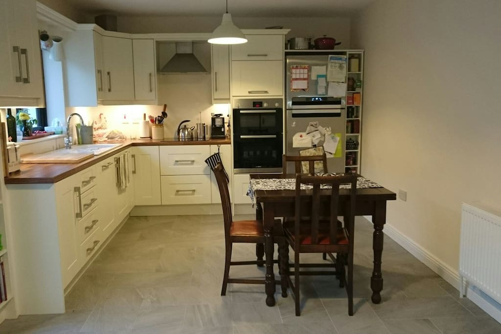 This is our beautiful kitchen which opens out on to our back garden.