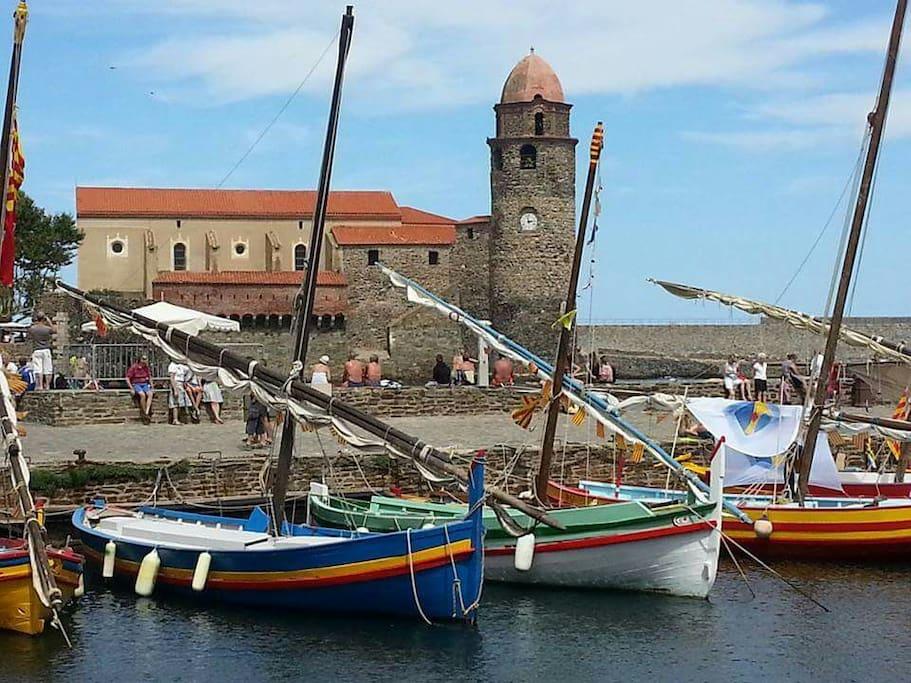 Collioure village de pêcheurs  à  quelques kilomètres ! !