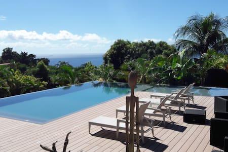 LAGALANTE Villa pour 2p Spa vue sur mer et Piscine - Vieux Habitants - 別荘