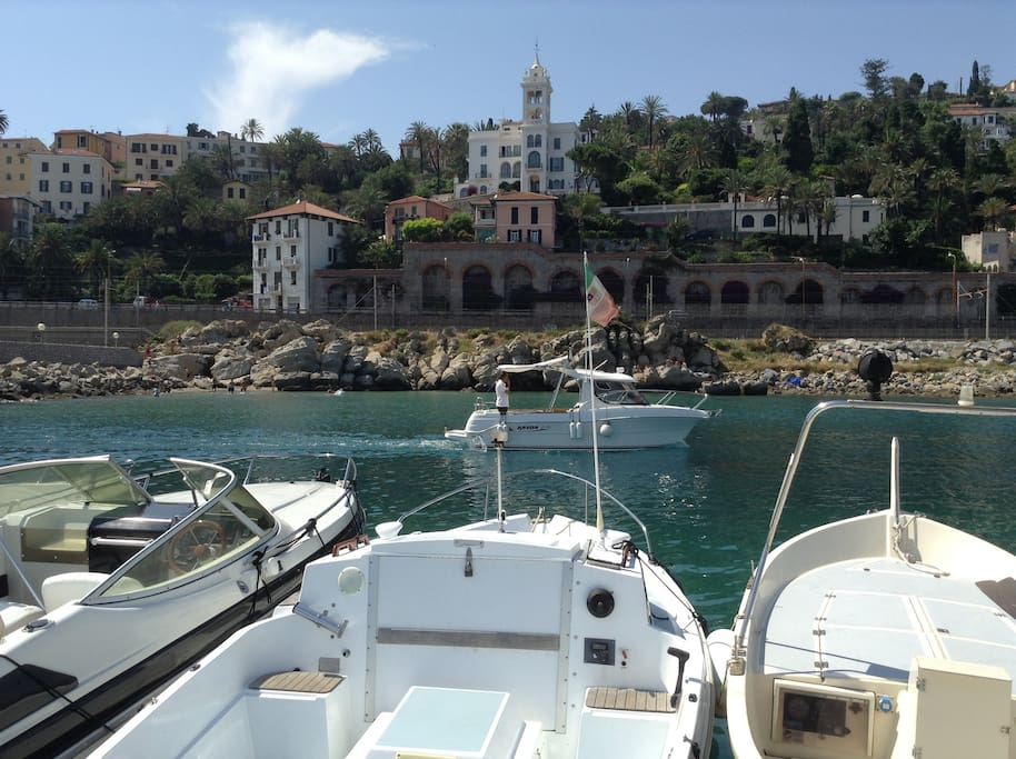 Harbour at nearby Bordighera