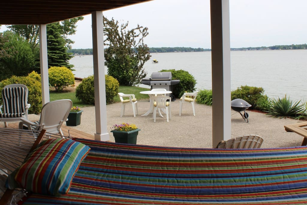 Covered porch and sitting area