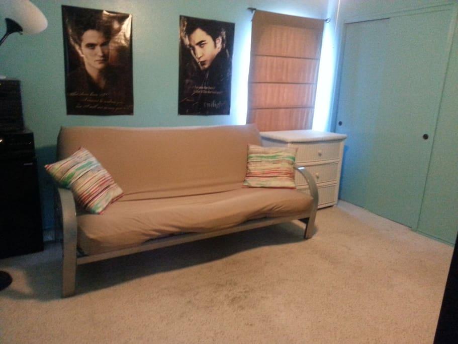 Futon makes double bed