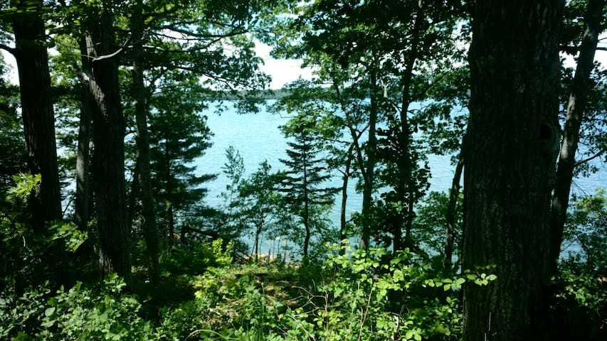 View over Maquoit Bay from the deck