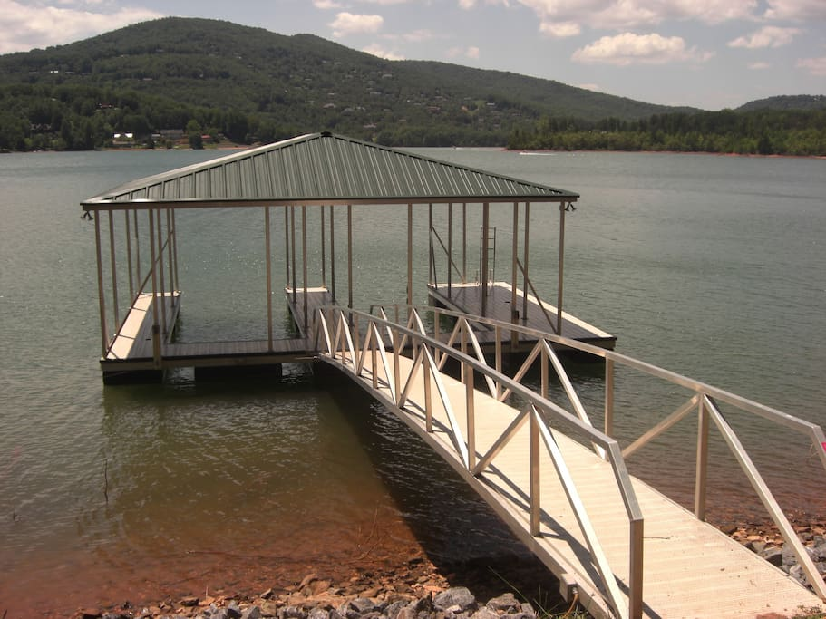 another view of dock and swim platform