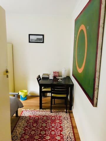 Secure private room in beautiful home.  Room 2/4