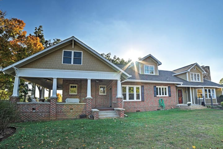 Gorgeous 4BR Cleveland House on 1.5 Acres w/Porch!