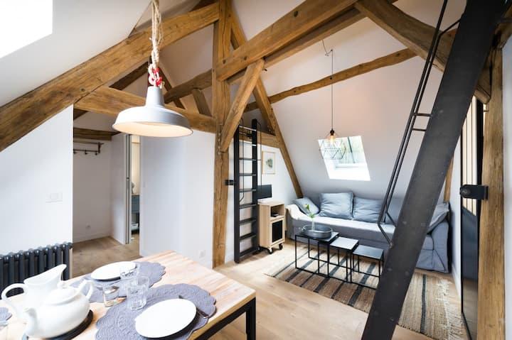 Coeur de Montfort l'Amaury, appartement de charme