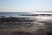 Downderry Beach at low tide in early May just as summer is starting to take shape.