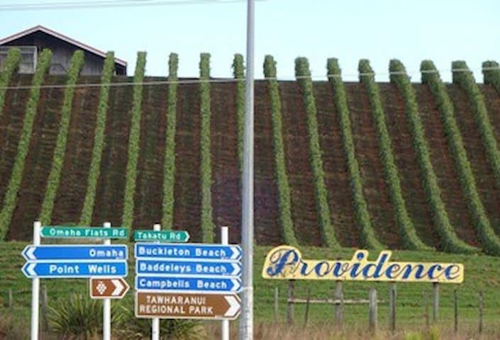The road to your idyllic seaside settlement
