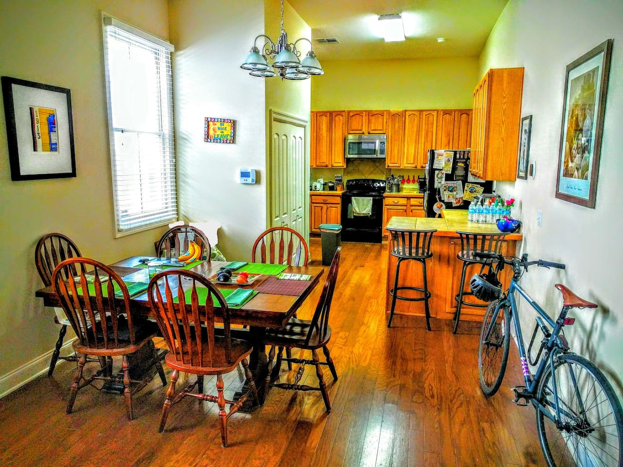 Fully stocked kitchen, we just ask if you use any utensils/dishware to place them in the dishwasher.