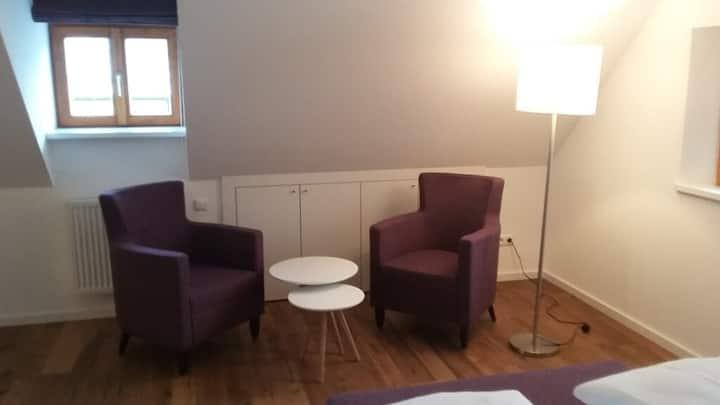"""Hollerhöfe """"Zu Gast im Dorf"""" (Kemnath), 1 Zimmer Apartment mit kostenfreiem WLAN und Küchenzeile"""