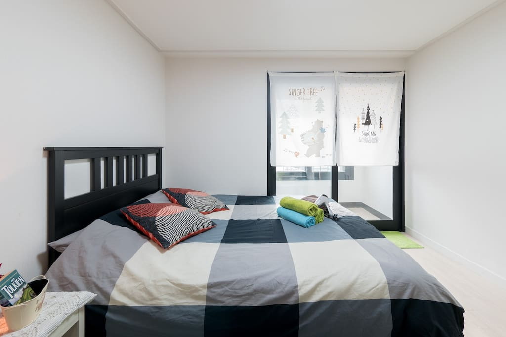 1st bedroom with Kingsize bed