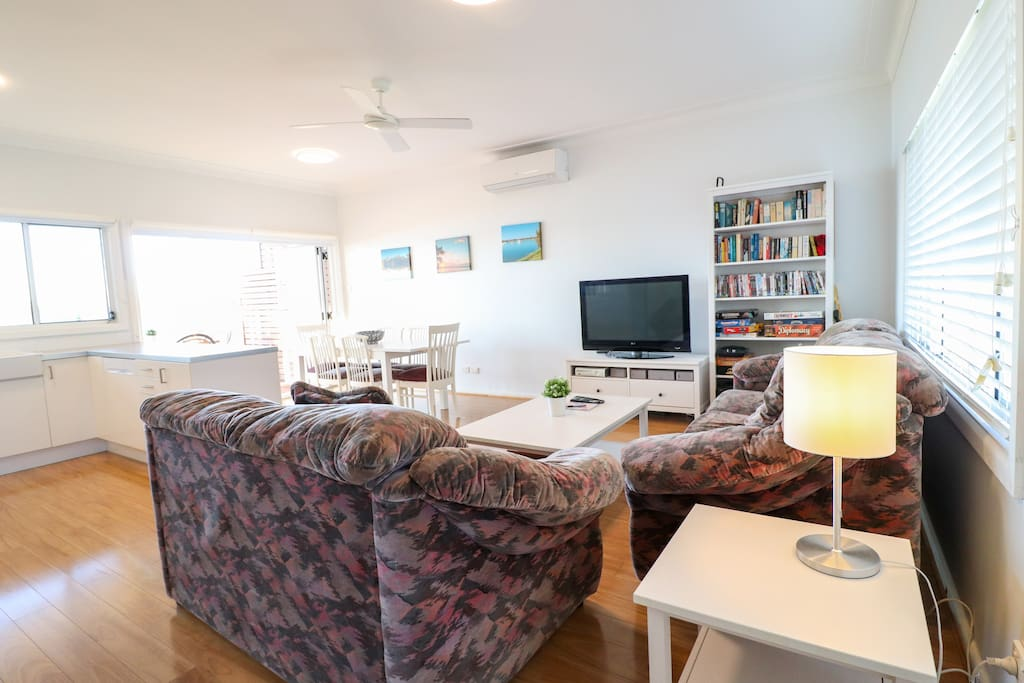 Open lounge and living
