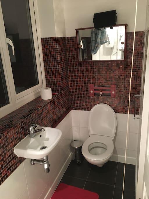 Main bedroom's ensuite toilet and sink
